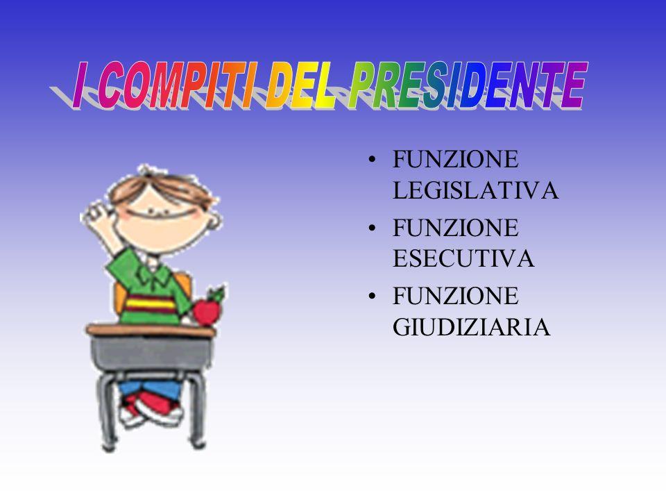 I COMPITI DEL PRESIDENTE