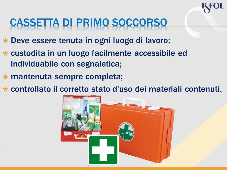 Cassetta di primo soccorso