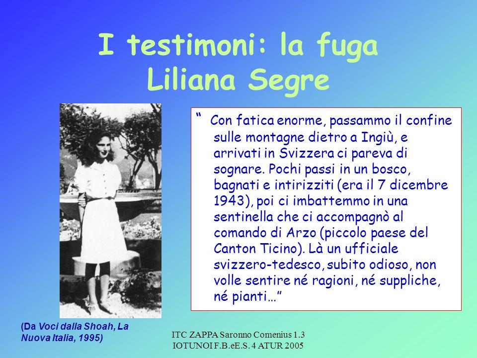 I testimoni: la fuga Liliana Segre