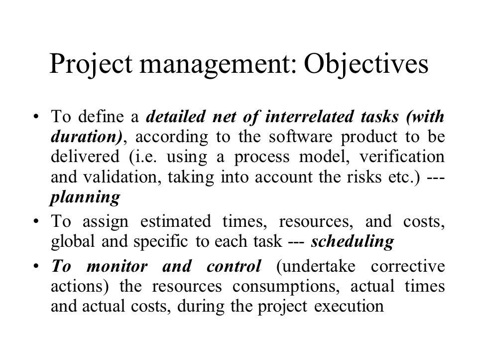 Project management: Objectives
