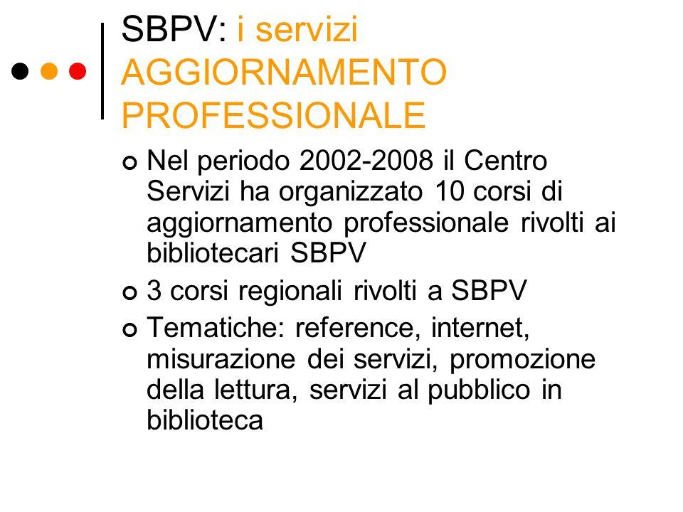 SBPV: i servizi AGGIORNAMENTO PROFESSIONALE