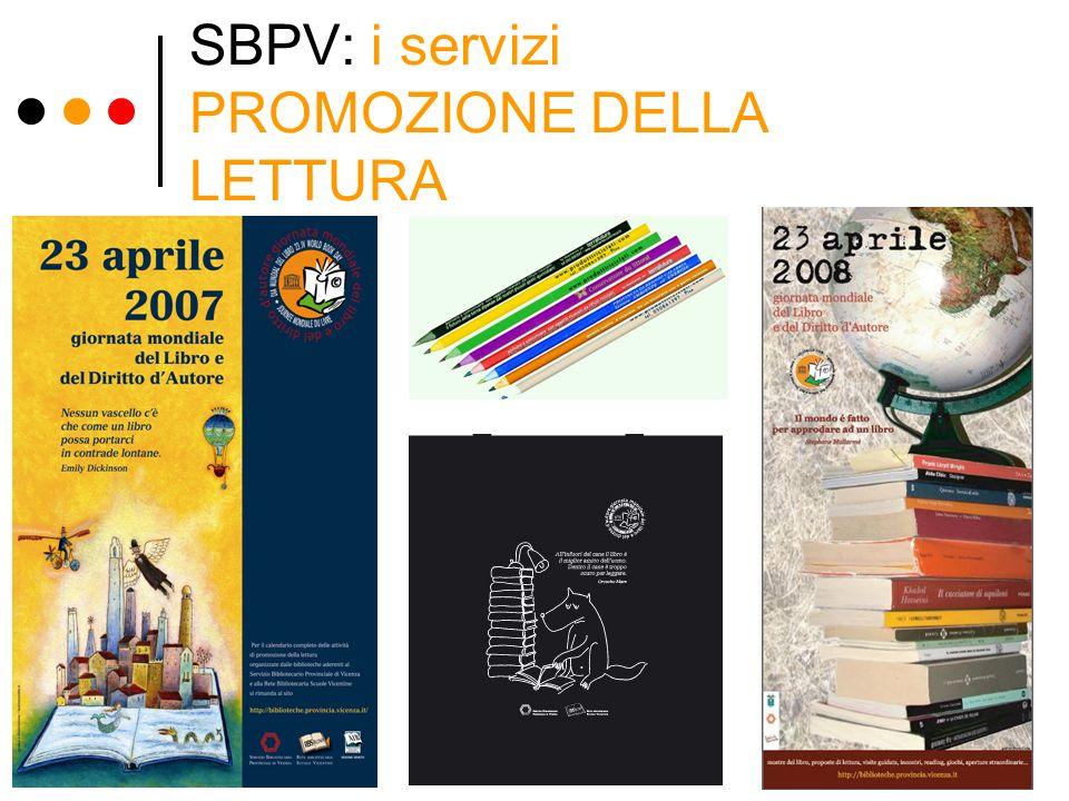 SBPV: i servizi PROMOZIONE DELLA LETTURA