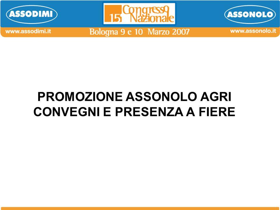 PROMOZIONE ASSONOLO AGRI CONVEGNI E PRESENZA A FIERE