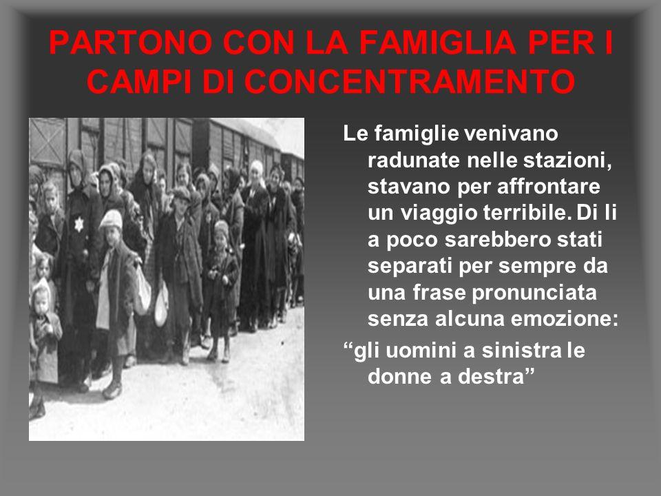 PARTONO CON LA FAMIGLIA PER I CAMPI DI CONCENTRAMENTO