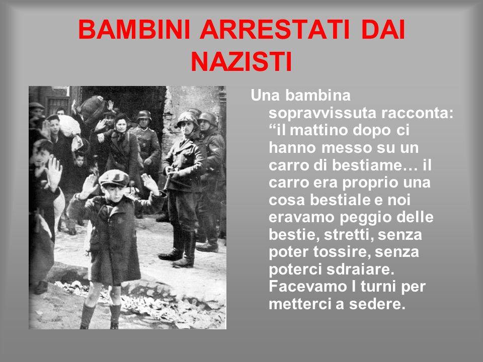 BAMBINI ARRESTATI DAI NAZISTI
