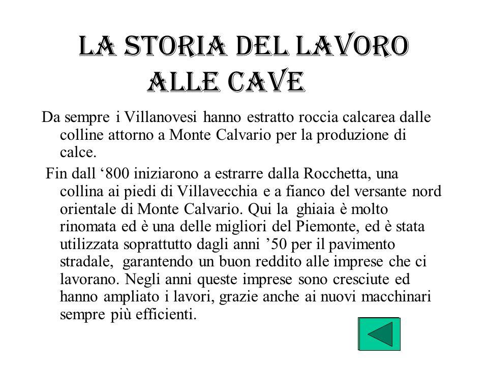 La storia del lavoro alle cave