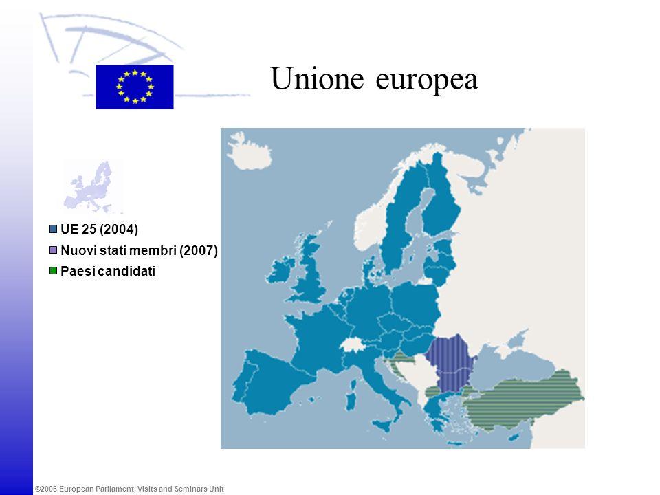 Unione europea UE 25 (2004) Nuovi stati membri (2007) Paesi candidati