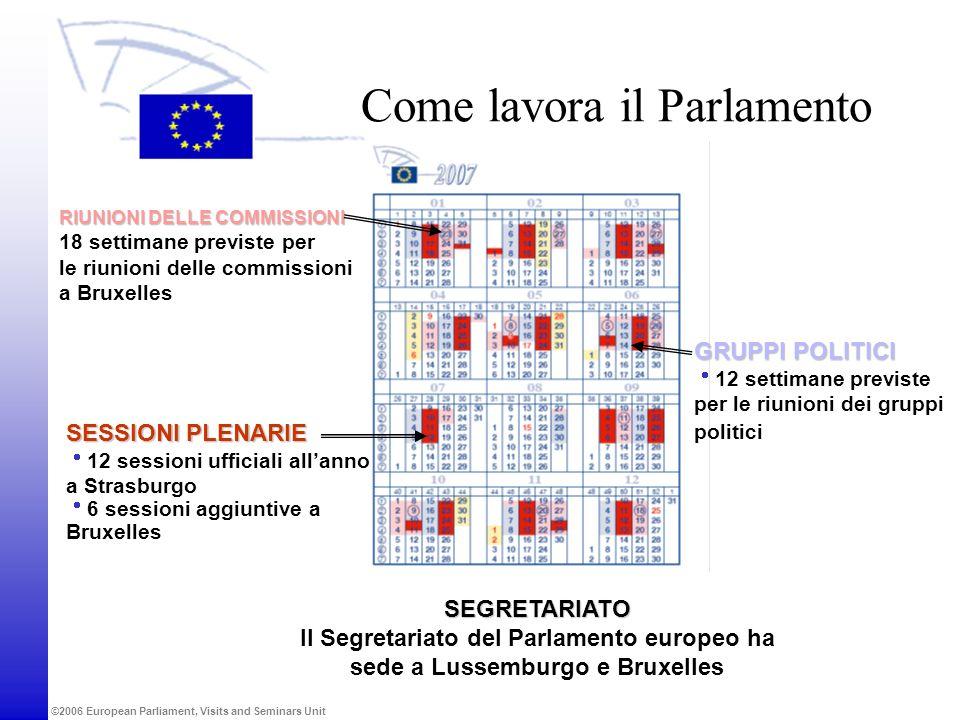 Come lavora il Parlamento