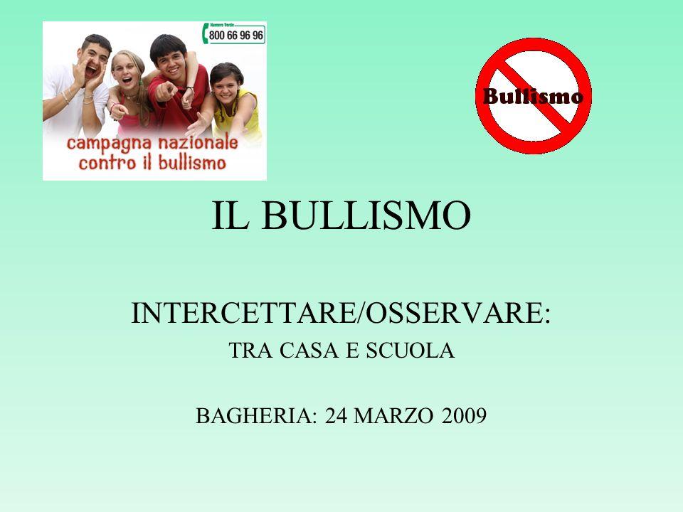 INTERCETTARE/OSSERVARE: TRA CASA E SCUOLA BAGHERIA: 24 MARZO 2009