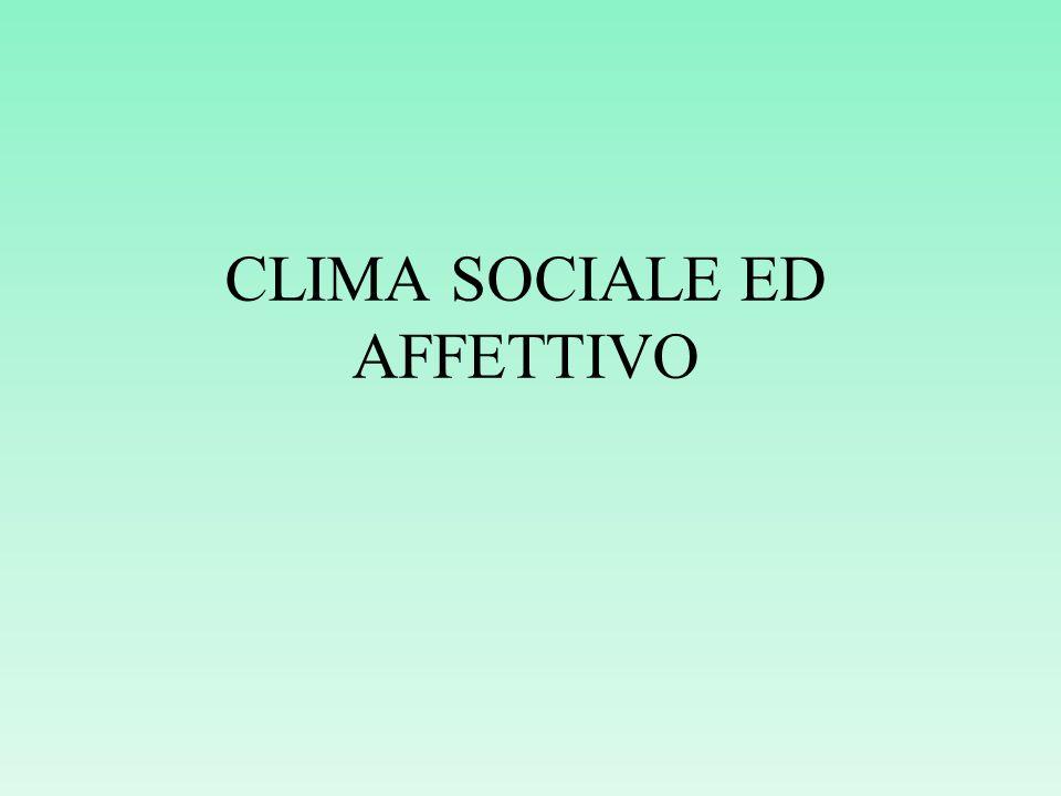 CLIMA SOCIALE ED AFFETTIVO