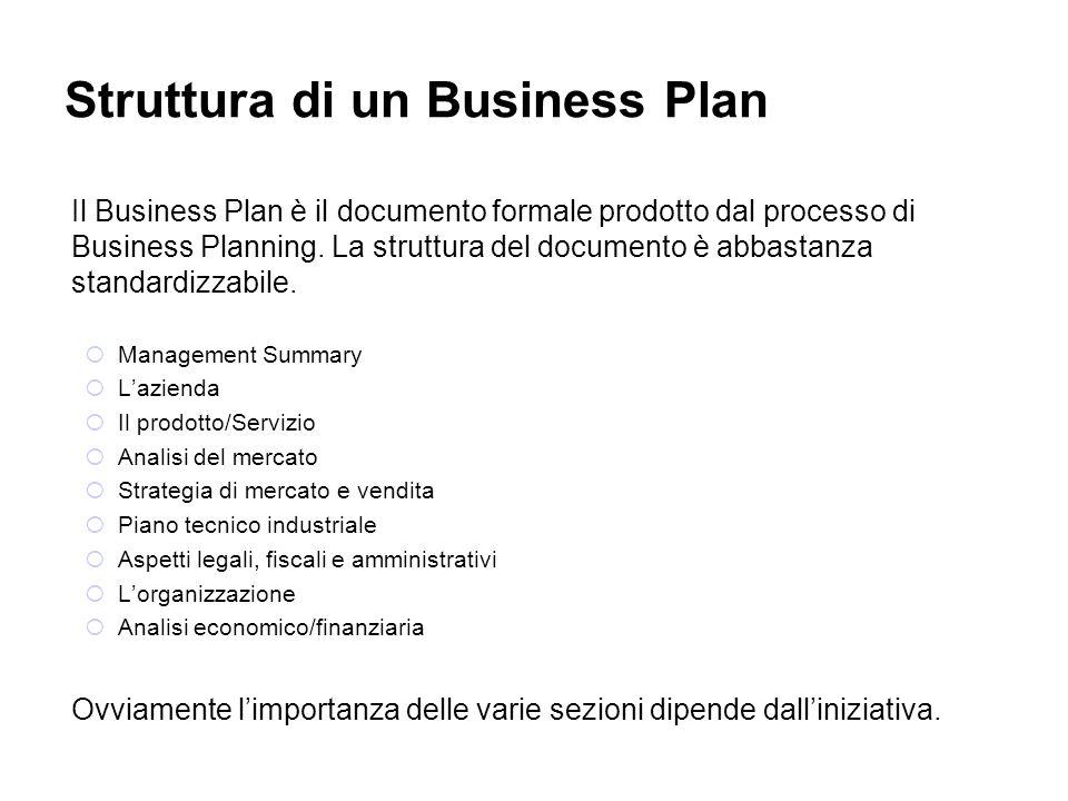 Struttura di un Business Plan