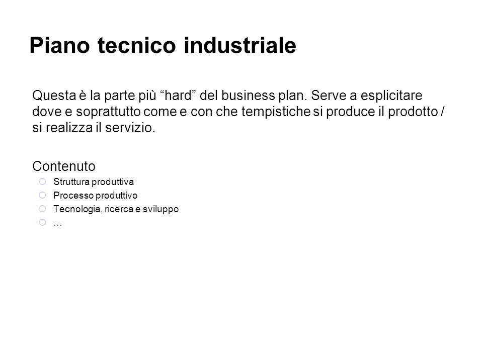 Piano tecnico industriale