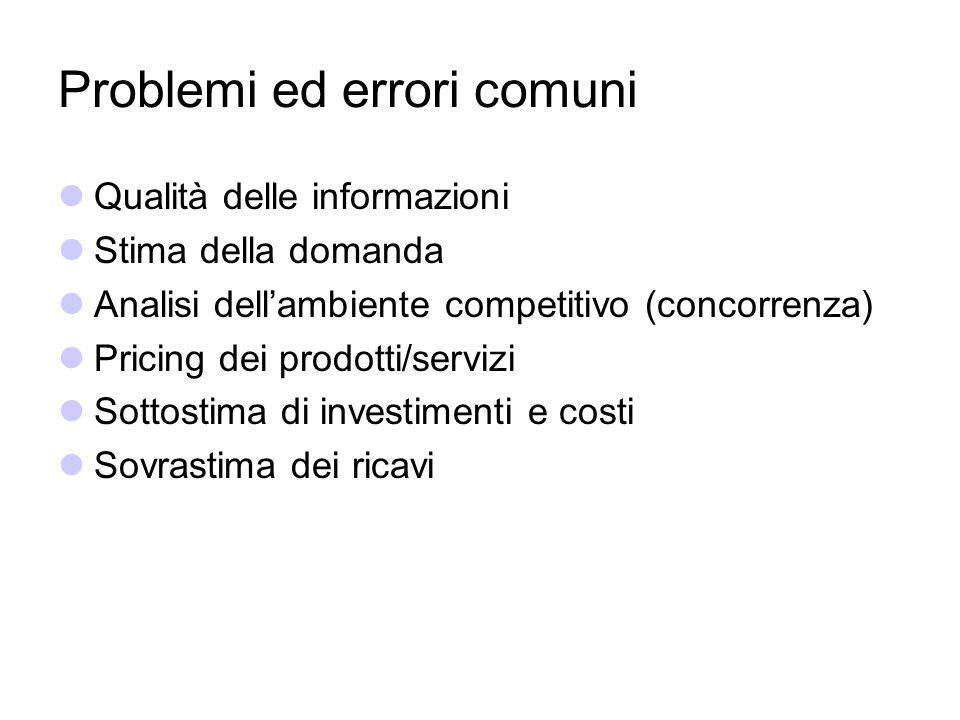 Problemi ed errori comuni