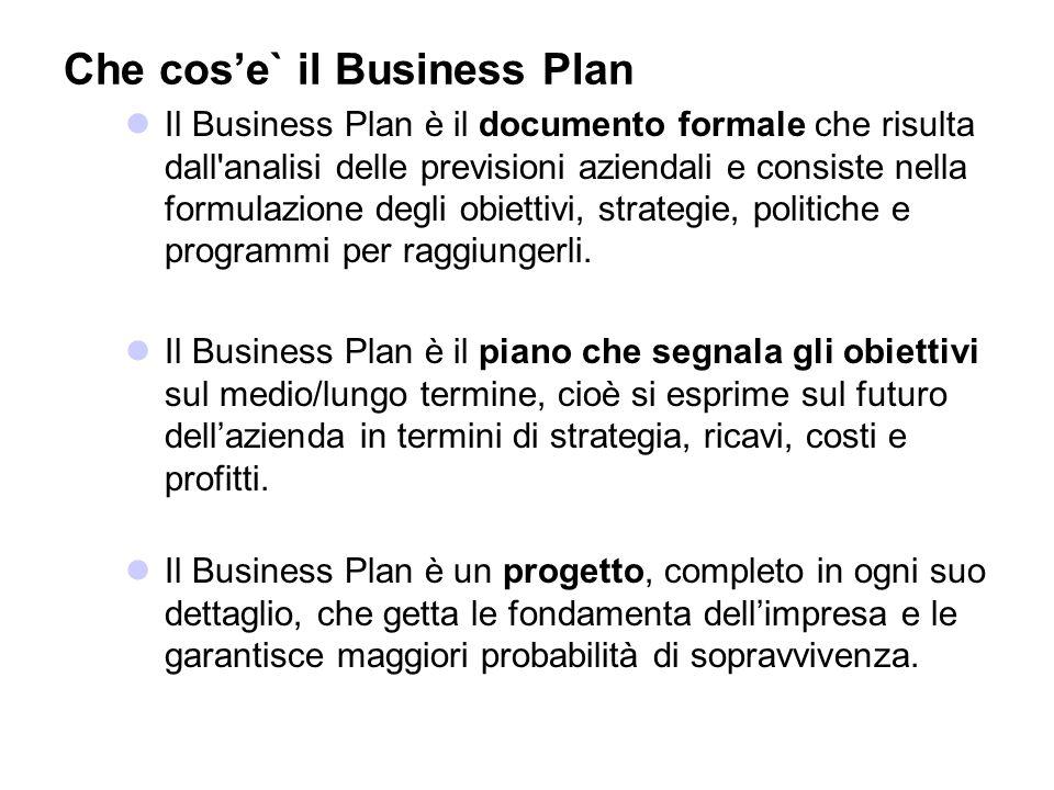 Che cos'e` il Business Plan