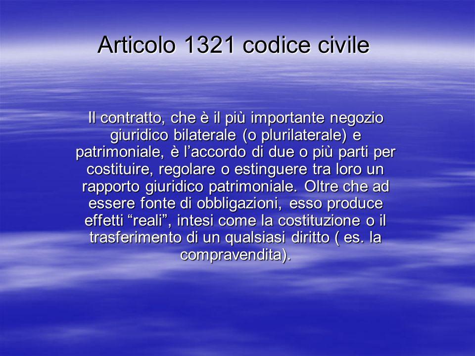 Articolo 1321 codice civile