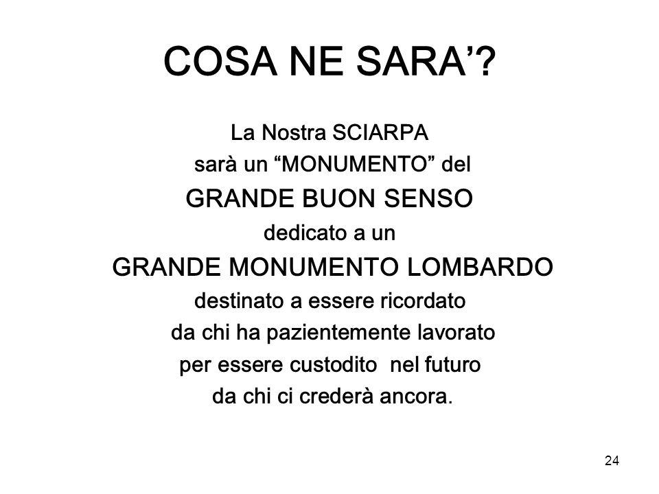 COSA NE SARA' GRANDE BUON SENSO La Nostra SCIARPA