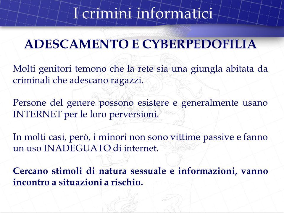 ADESCAMENTO E CYBERPEDOFILIA