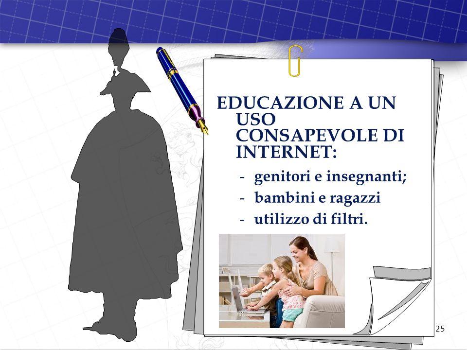 EDUCAZIONE A UN USO CONSAPEVOLE DI INTERNET: