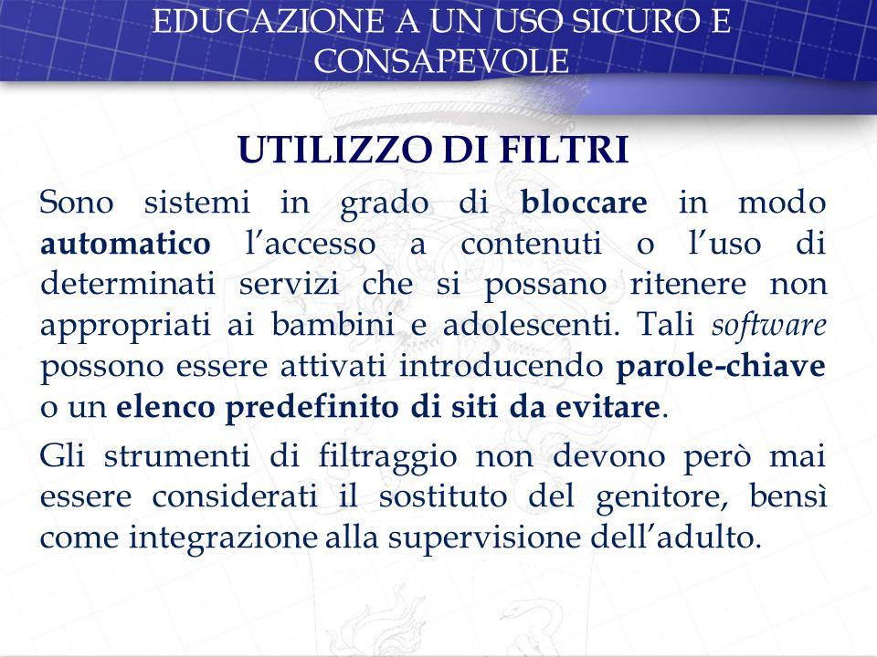 EDUCAZIONE A UN USO SICURO E CONSAPEVOLE