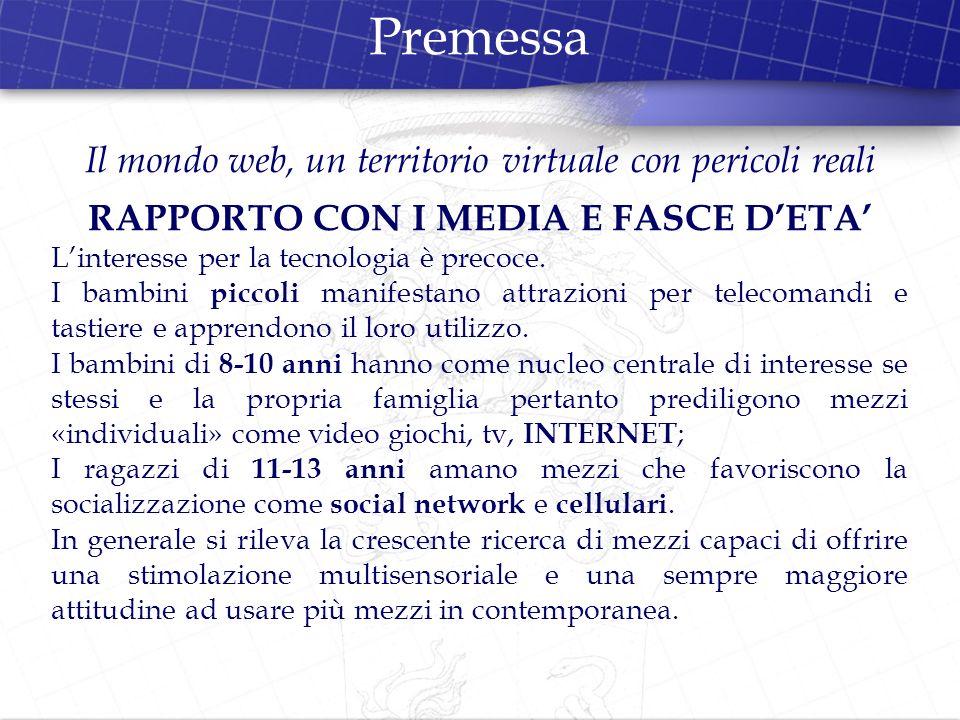 RAPPORTO CON I MEDIA E FASCE D'ETA'