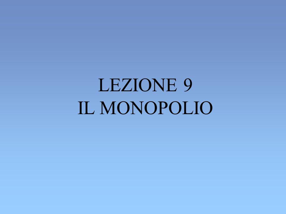 LEZIONE 9 IL MONOPOLIO