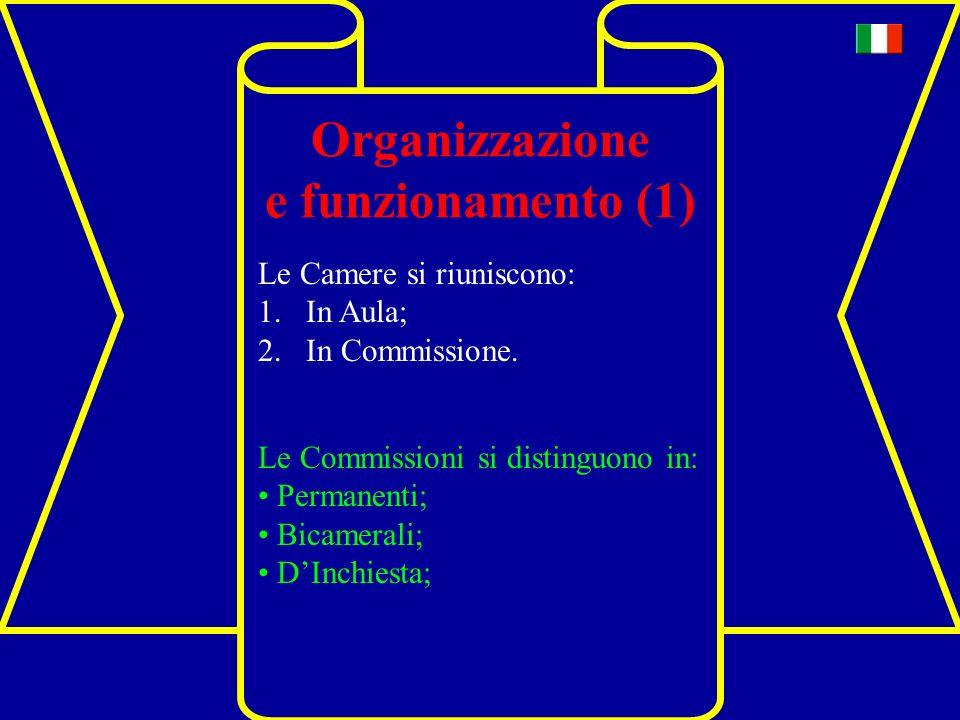 Organizzazione e funzionamento (1)