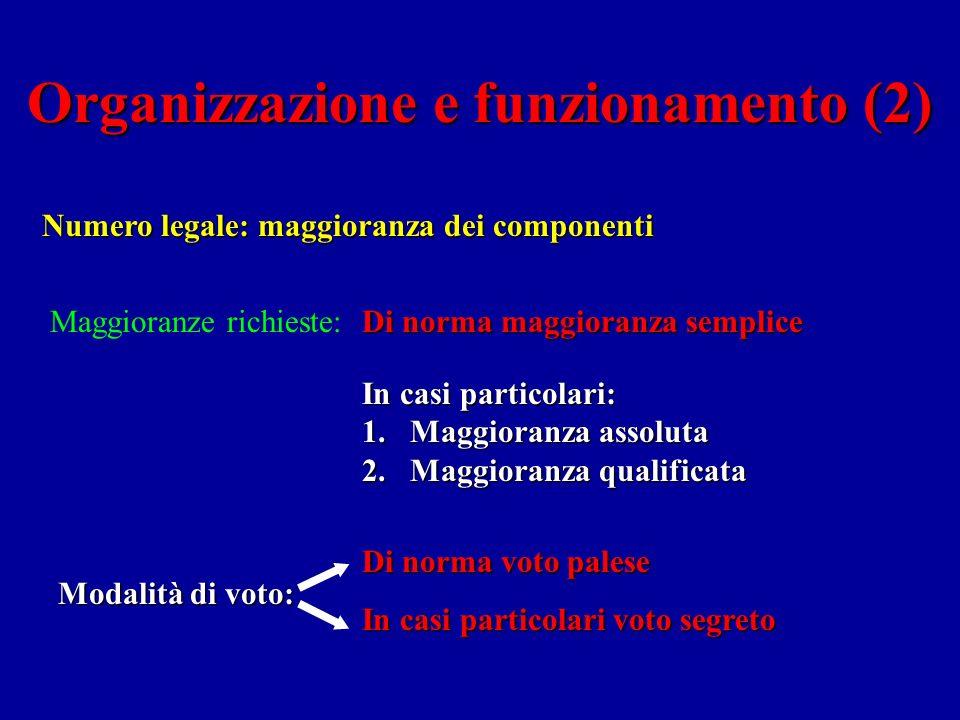 Organizzazione e funzionamento (2)