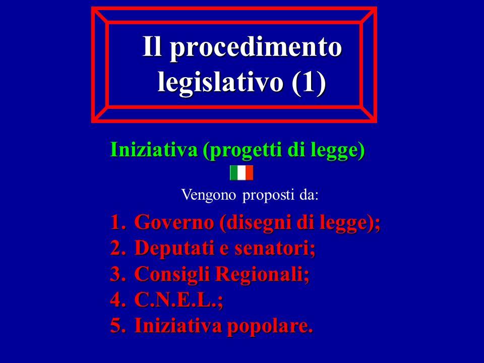 Il procedimento legislativo (1)