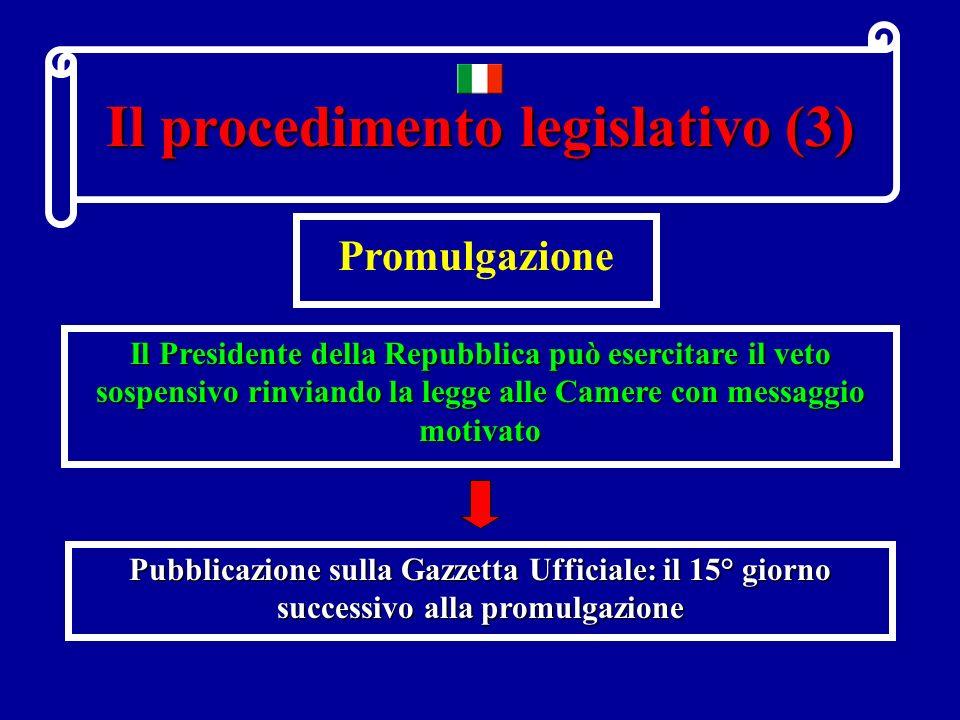 Il procedimento legislativo (3)