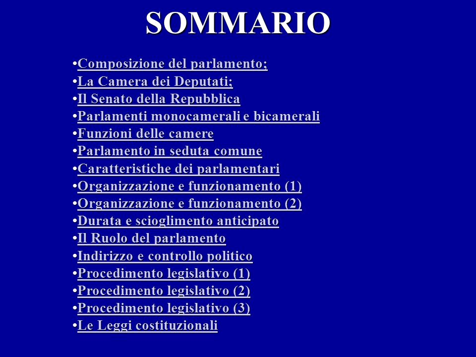Il parlamento italiano ppt video online scaricare for Camere del parlamento