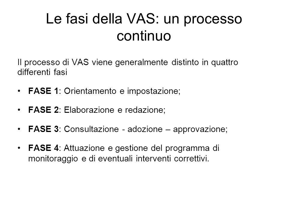 Le fasi della VAS: un processo continuo