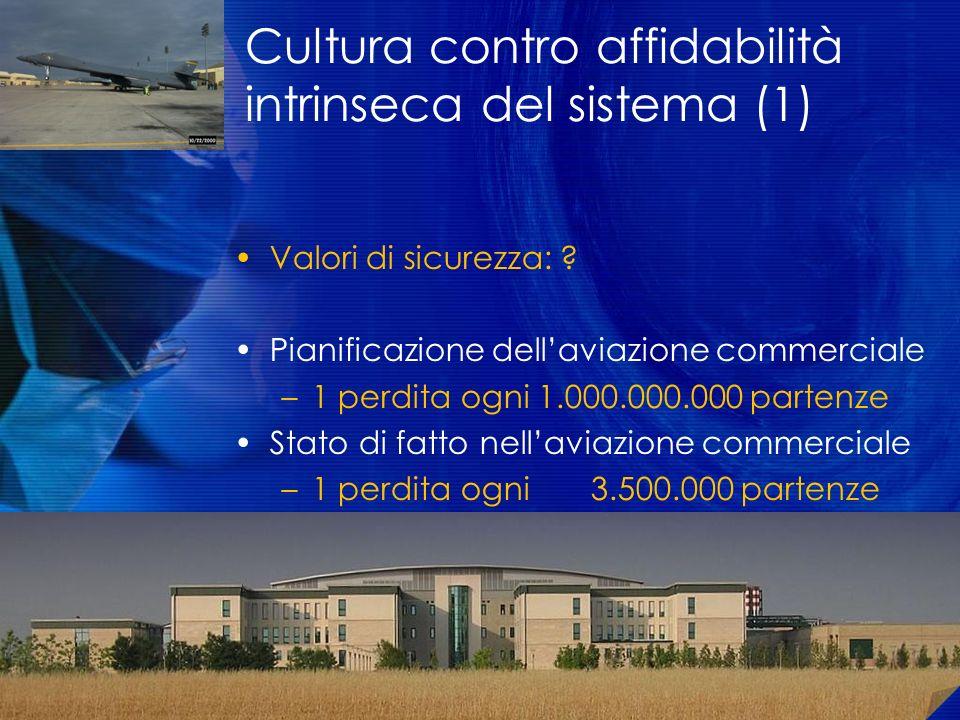 Cultura contro affidabilità intrinseca del sistema (1)