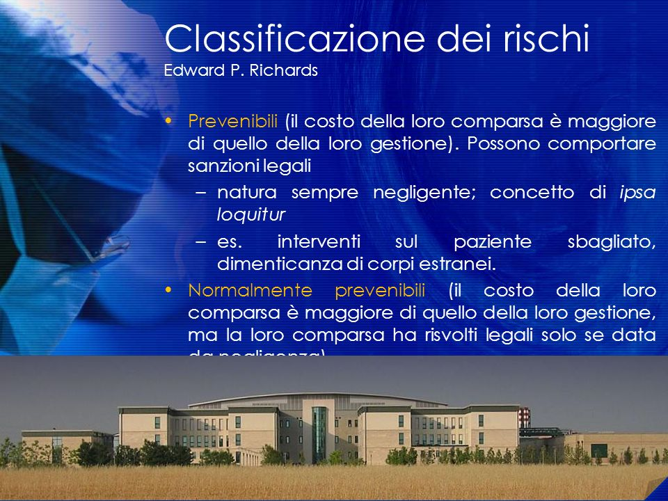 Classificazione dei rischi Edward P. Richards