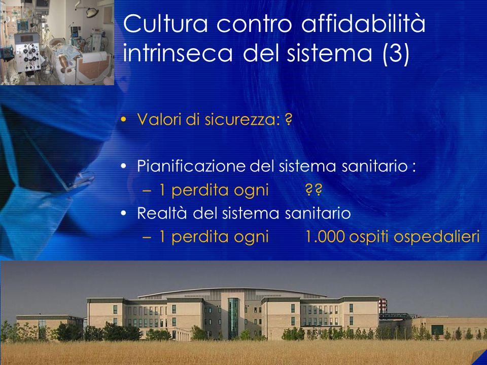 Cultura contro affidabilità intrinseca del sistema (3)
