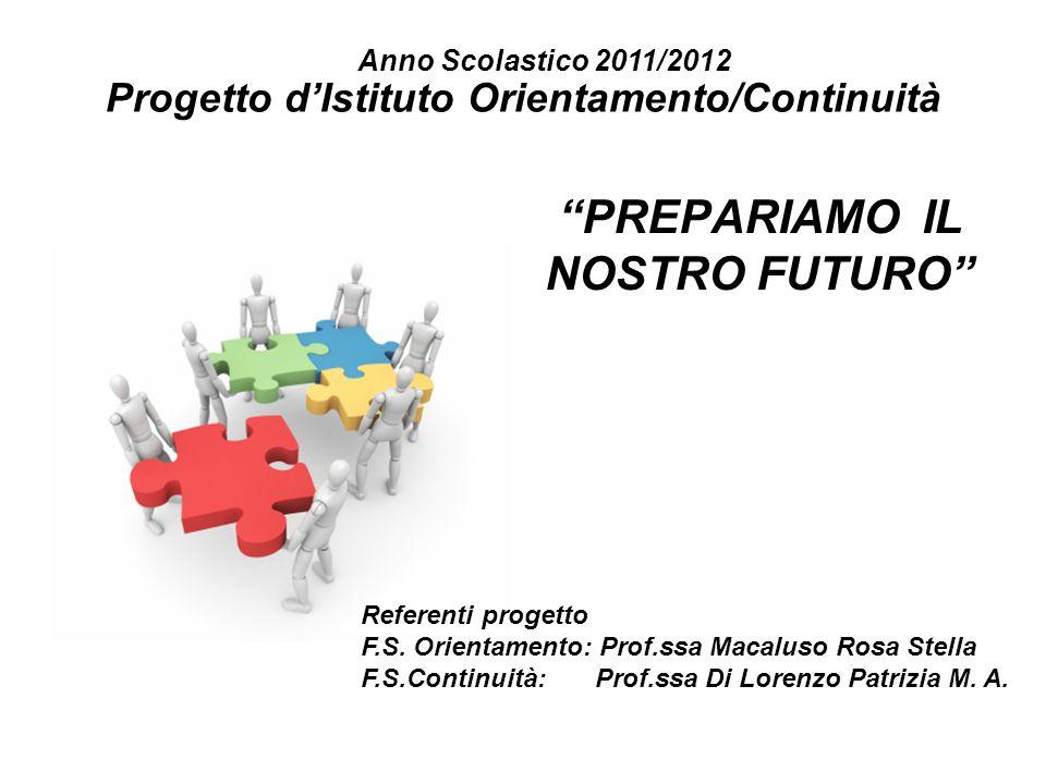 Progetto d'Istituto Orientamento/Continuità