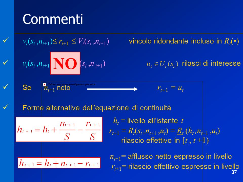 NO Commenti vt(st ,nt+1) rt+1  Vt(st ,nt+1)