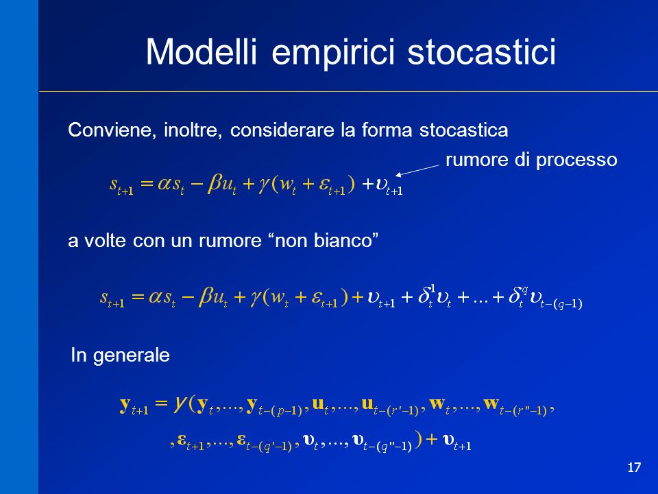 Modelli empirici stocastici