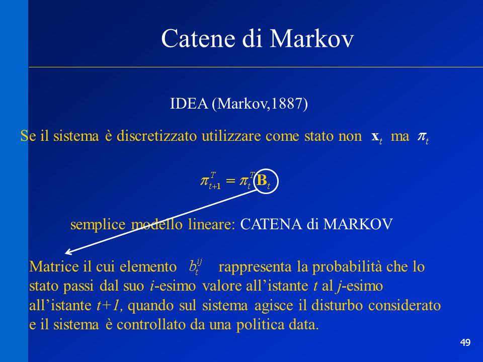 Catene di Markov IDEA (Markov,1887)