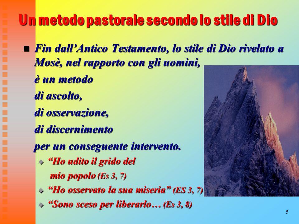 Un metodo pastorale secondo lo stile di Dio