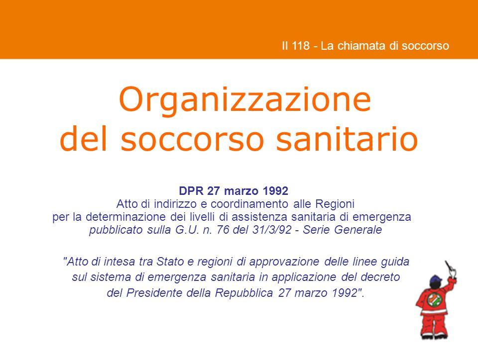 Organizzazione del soccorso sanitario