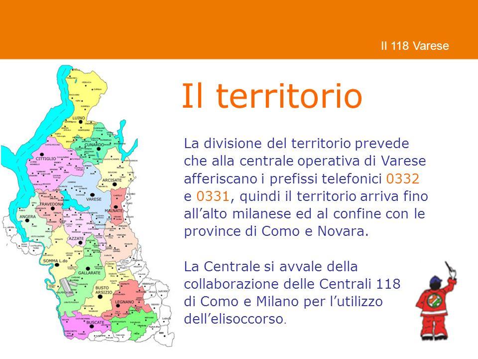 Il territorio La divisione del territorio prevede
