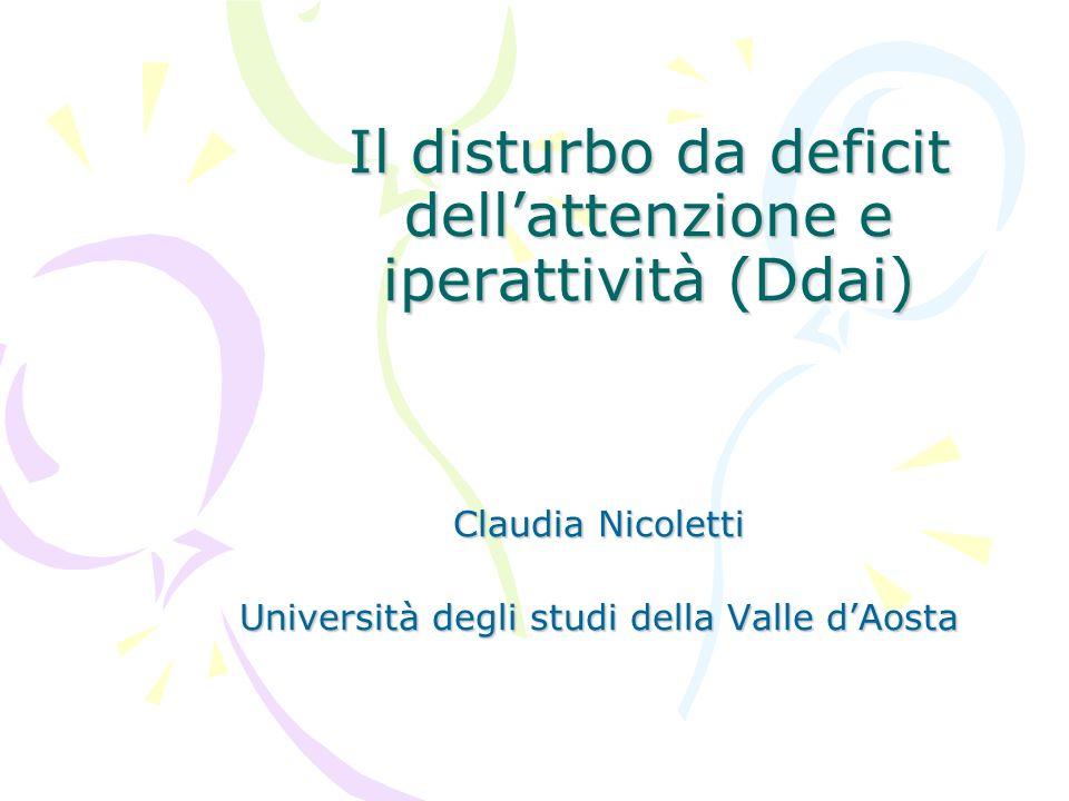 Il disturbo da deficit dell'attenzione e iperattività (Ddai)