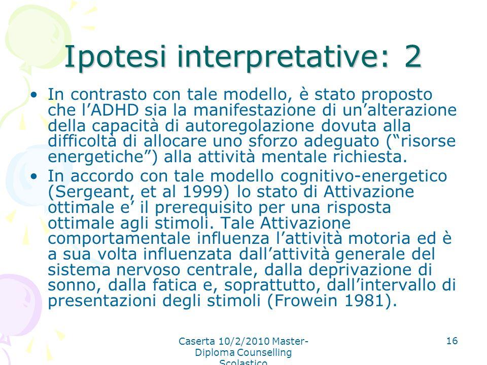Ipotesi interpretative: 2