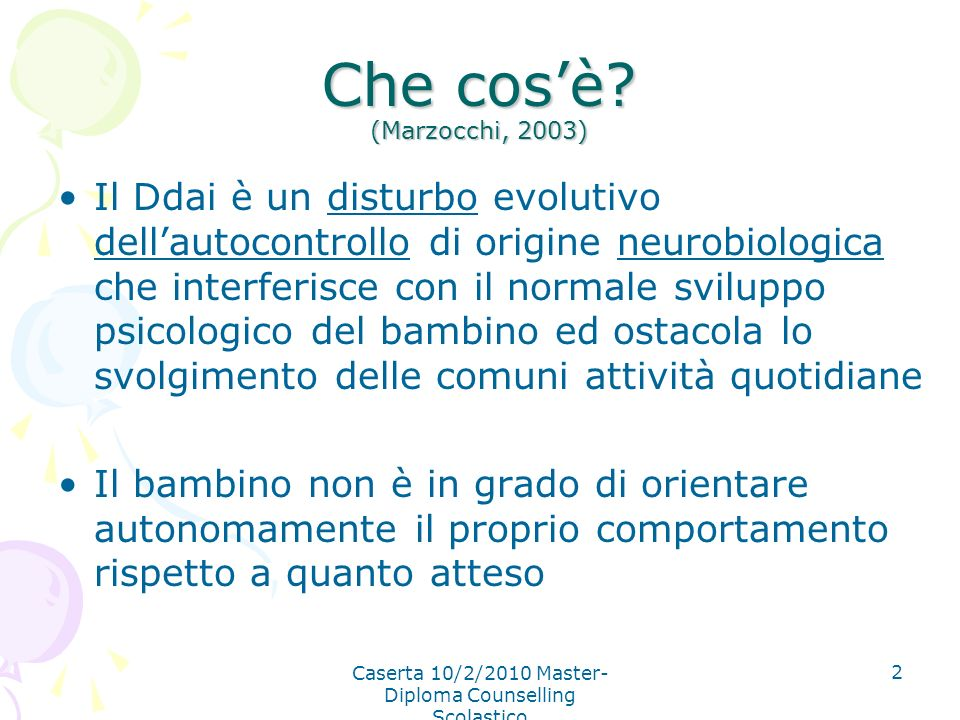 Caserta 10/2/2010 Master-Diploma Counselling Scolastico