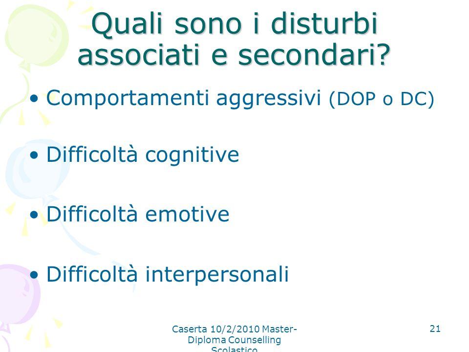 Quali sono i disturbi associati e secondari