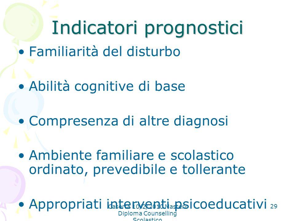 Indicatori prognostici