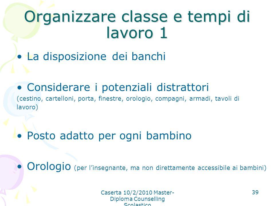 Organizzare classe e tempi di lavoro 1