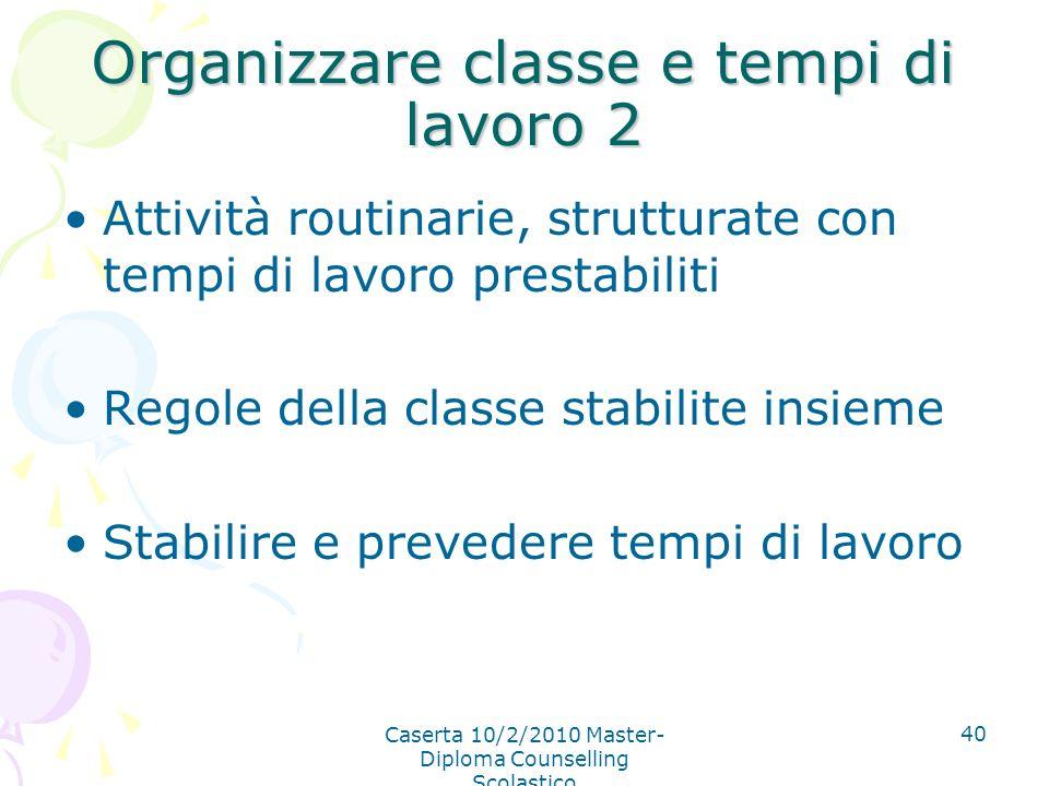Organizzare classe e tempi di lavoro 2