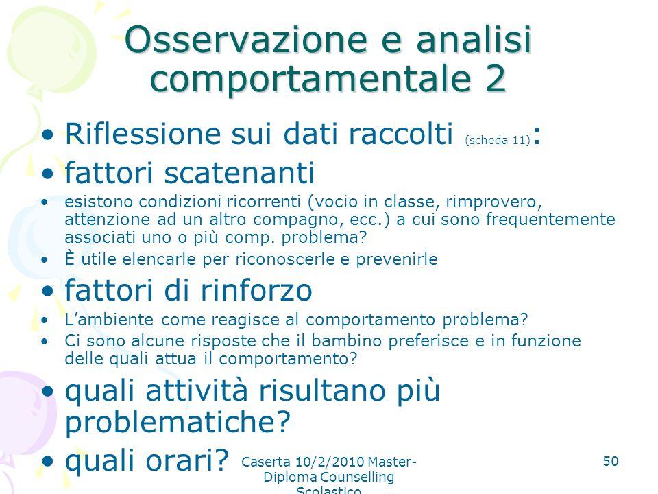 Osservazione e analisi comportamentale 2