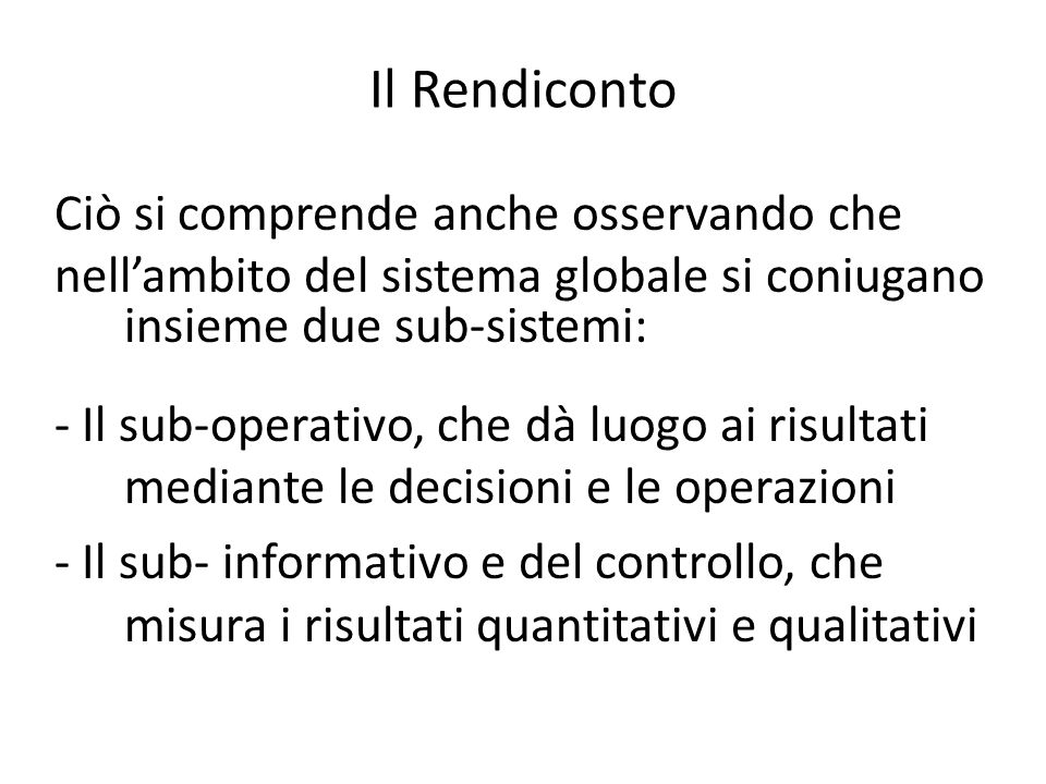 Il Rendiconto